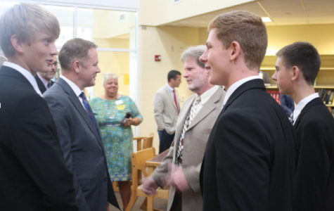 Congressman Visits RHS, Recognizes JEE Foods' Success