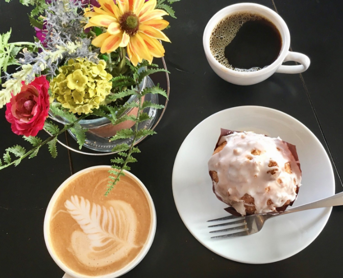 A+featured+selection+of+treats+courtesy+of+Coffee+Cup+Overflowing.+