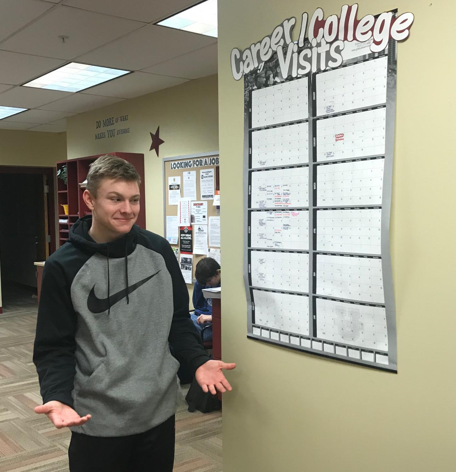 Senior Tyler Stenger contemplates his future decisions as he plans for life post RHS.