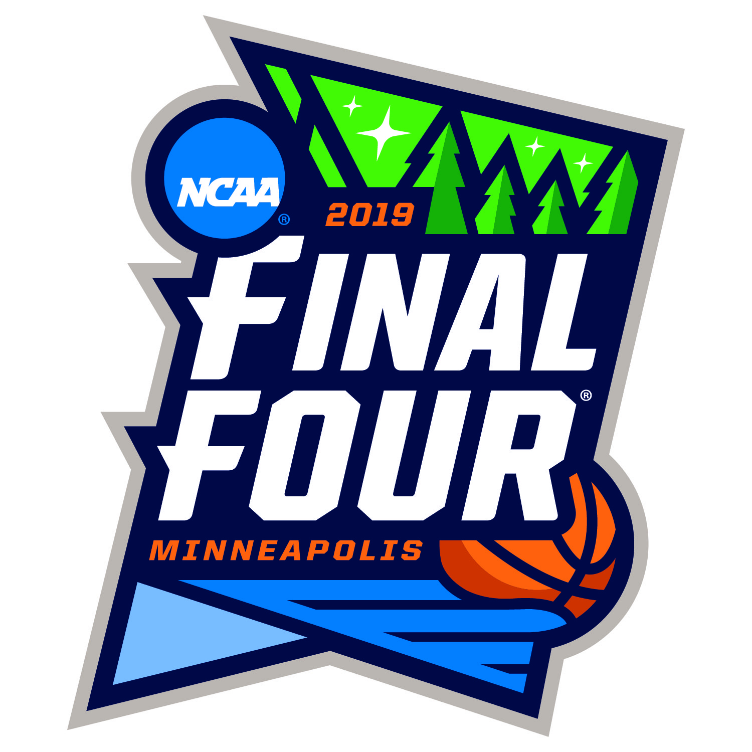The NCAA Final Four logo for this year's March Madness in Minneapolis.