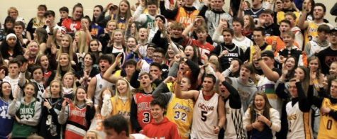 "The Herd performs the infamous ""airball"" chant during a game against SWOC rival Talawanda."