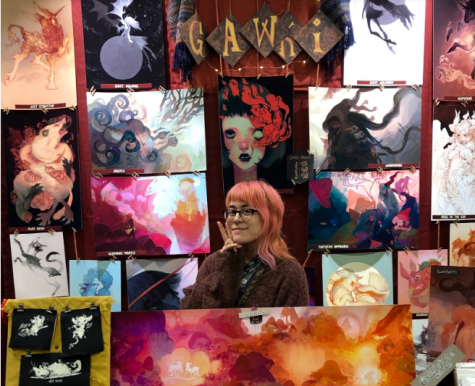 Young artist who goes by Gawki showed off her powerful display of artwork at a recent Ohayo comic con in Columbus, OH.