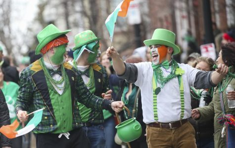 People celebrate at the 118th St. Patrick's Day parade on March 17, 2019.