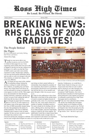 2020 Senior Edition Newspaper