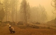 While on the job, 2010 RHS Alumni Bradley Parks captures an intense scene during the summer wildfires in Gates, Oregon.
