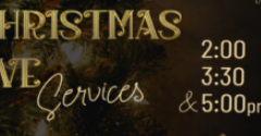 You can see the praise team in action at any of these services held at Ross High School on Christmas Eve.