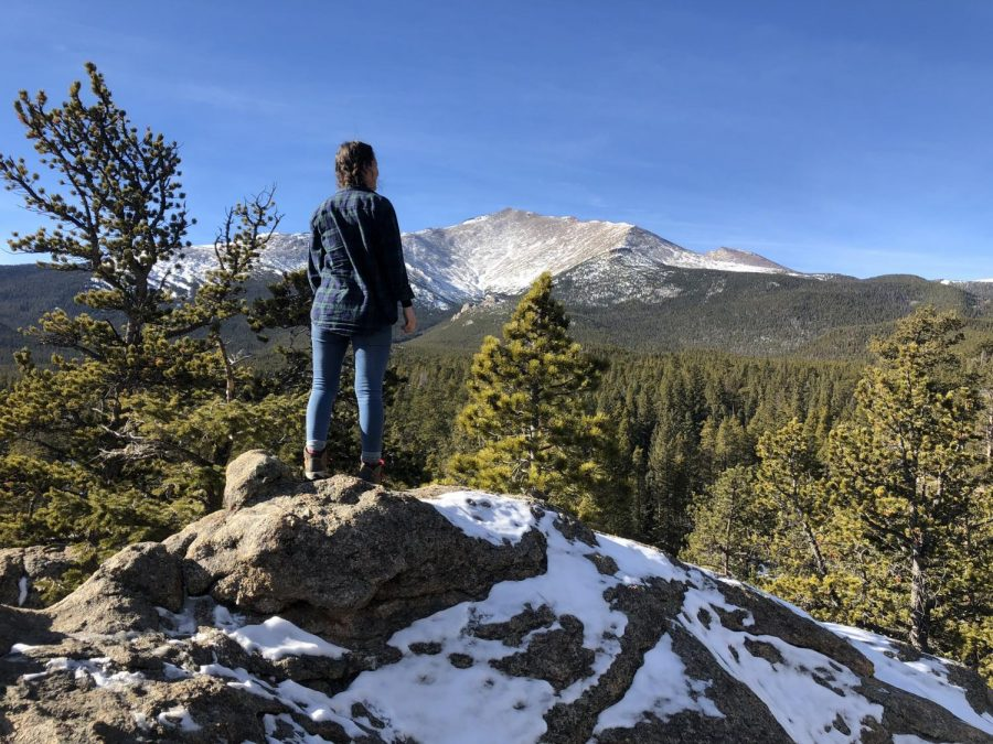 On a hike in the mountains of Colorado, a girl finds herself in awe of the surroundings.