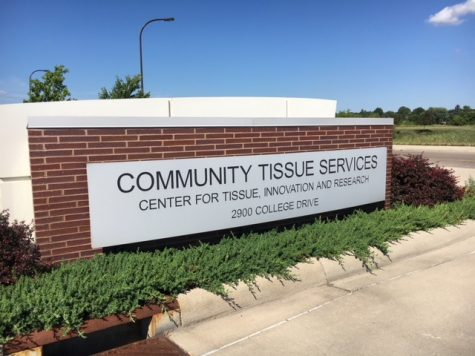 The Community Tissue Services company sign.