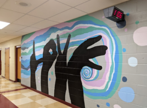 the first mural completed by the class this year