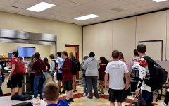 Students gather at the Maroon Mocha before school to get their morning coffee.