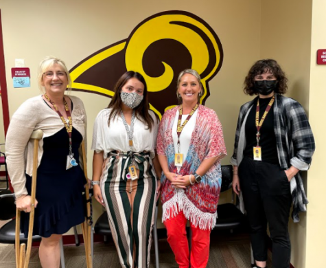 RHS welcomes new staff members (left to right) Mrs. Beal, Ms. Murphy, Mrs. Murphy, and Ms. Keller.